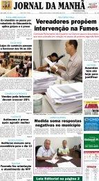 Vereadores propõem intervenção na Fumes - Jornal da Manhã