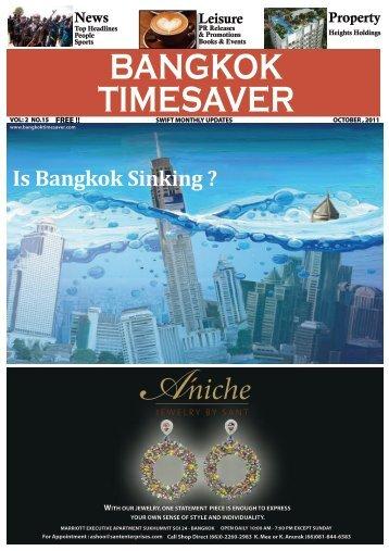 Is Bangkok Sinking ? - Bangkok TimeSaver
