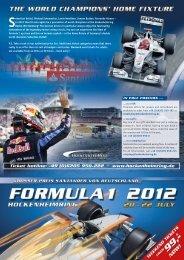 Formula 1 Ticket Flyer 2012 as pdf-download - Hockenheimring
