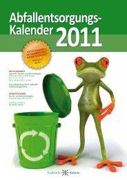 Abfallentsorgungs Kalender 2011 - Gojer