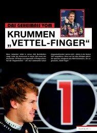 """krummen """"Vettel-Finger"""" - Values & Life"""
