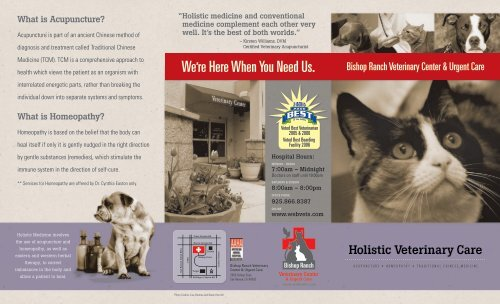 Holistic Care Brochure - Bishop Ranch Veterinary Center & Urgent