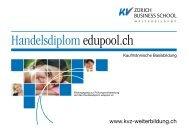 Handelsdiplom edupool.ch - KV Zürich Business School