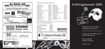 Frühlingskonzert 2005 - Musikverein Verena Wollerau