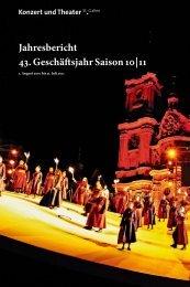 Jahresbericht 43. Geschäftsjahr Saison 10 | 11 - Theater St. Gallen