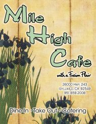 with a Fusion Flair - Mile High Cafe