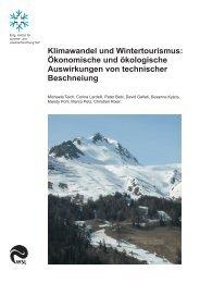 Klimawandel und Wintertourismus: Ökonomische und ... - OcCC