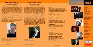 Jazzcafé 2013 - Stadt Korschenbroich