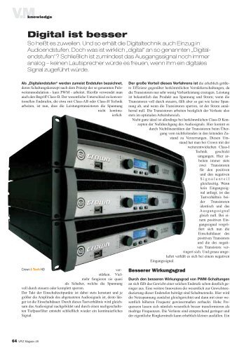 Digital ist besser, VPLT Magazin 49