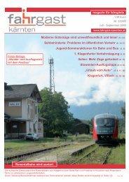 magazin für fahrgäste Rosentalbahn wird saniert ... - Fahrgast Kärnten