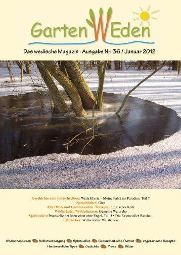 Das wedische Magazin . Ausgabe Nr. 36 / Januar ... - Garten Weden