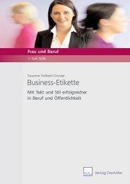 Business-Etikette - Verlag Dashöfer