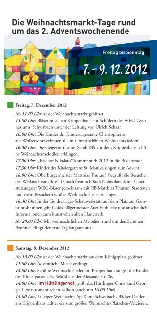 Schwabacher Weihnachtsmarkt - Stadt Schwabach