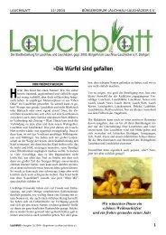 pdf 1,5 Mb - Home @ BÜRGERFORUM LAUCHHAU-LAUCHÄCKER