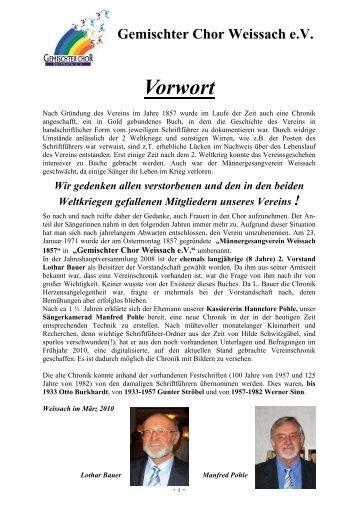 Gemischter Chor Weissach eV - StrudelbachChöre