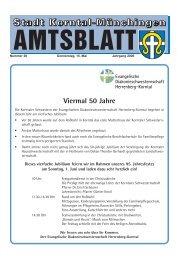 Nummer 20 Donnerstag, 15. Mai Jahrgang 2008 - Stadt Korntal ...