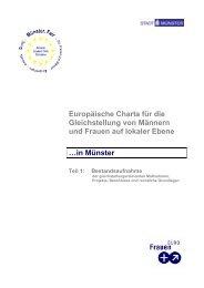 Europäische Charta für Gleichstellung - Teil 1 ... - Stadt Münster