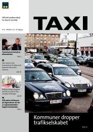 Kommuner dropper trafikselskabet - Dansk Taxi Råd