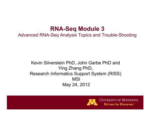 RNA-Seq Module 3