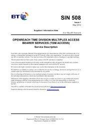 Openreach Time Division Multiplex Access - BT Webworld