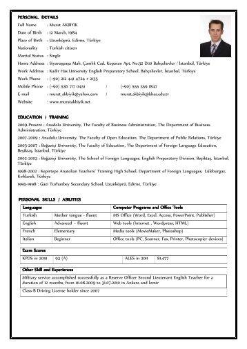 zeynep m  turkmen    cv personal information name