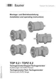 TDP 0,2 • TDPZ 0,2 - Baumer Hübner