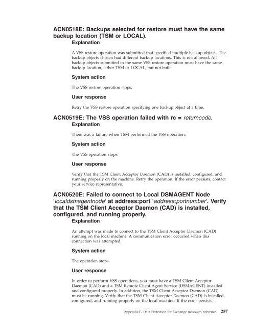 ACN0515E: Invalid DSMAGEN