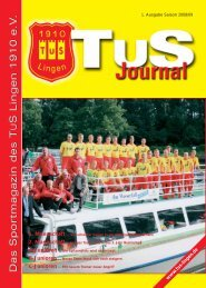 Journal Saison 2008-09 - TuS Lingen