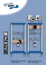 ventiltechnik SANIT urinal cartridge valve technology - Glynwed Asia