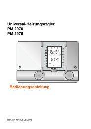 Universal-Heizungsregler PM 2970 PM 2975 Bedienungsanleitung