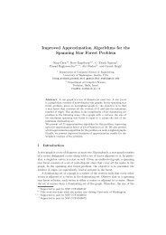 Improved Approximation Algorithms for the Spanning ... - Technion