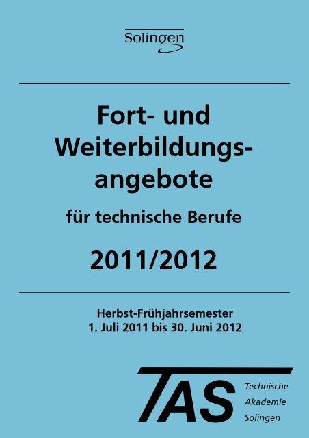 Fort- und Weiterbildungsangebote für technische ... - TBK Solingen