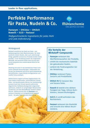 Perfekte Performance für Pasta, Nudeln & Co. - Mühlenchemie ...
