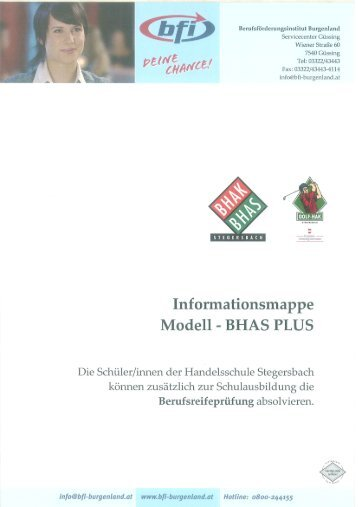 Informationsblatt BHAS PLUS - GOLF-HAK Stegersbach