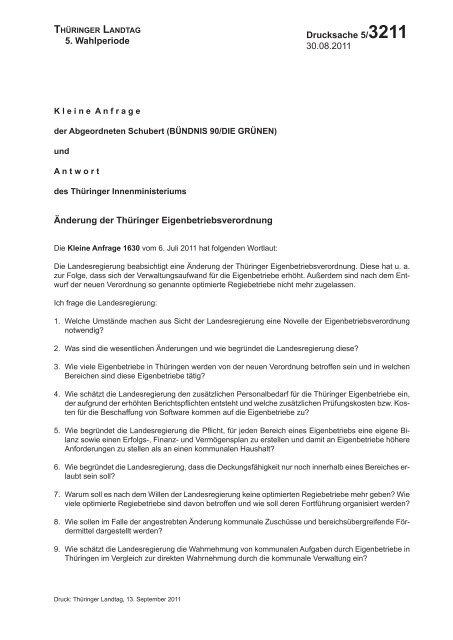 Die Kleine Anfrage und ihre Antwort als PDF - gruene-fraktion ...