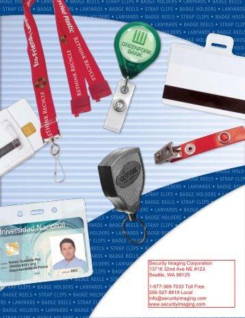 BADGE HOLDERS • LANYARDS • BADGE ... - Security Imaging