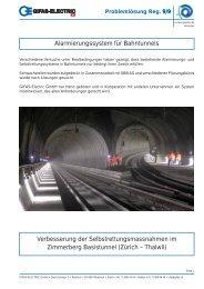 Alarmierungssystem für Bahntunnels Verbesserung der ...