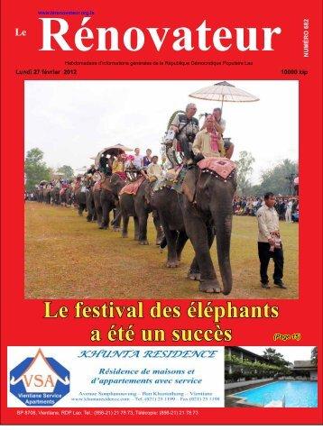 Le festival des éléphants a été un succès - Le Rénovateur