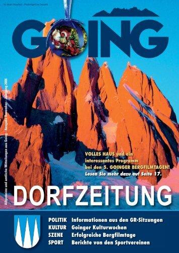 Dorfzeitung Dezember 2006 - Going am wilden Kaiser - Land Tirol