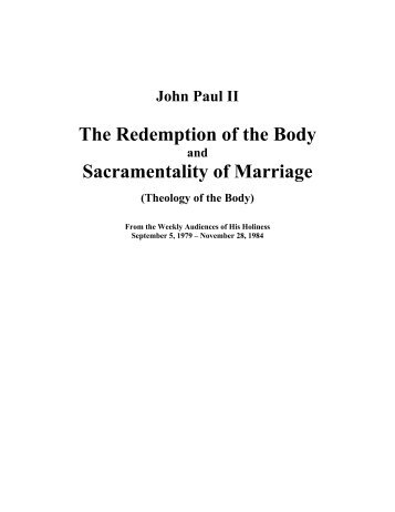 The Theology of the Body by John Paul II - The Catholic Primer