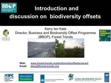 1. What is a biodiversity offset? - Ecosystem Marketplace