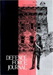 ISSUE 71 : Jul/Aug - 1988 - Australian Defence Force Journal