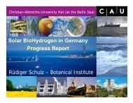 Rüdiger Schulz – Botanical Institute Solar BioHydrogen in Germany ...
