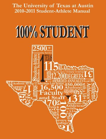 100% ATHLETE The University of Texas at Austin - Community