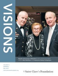 Visions - Fall 2012 - Saint Clare's Foundation