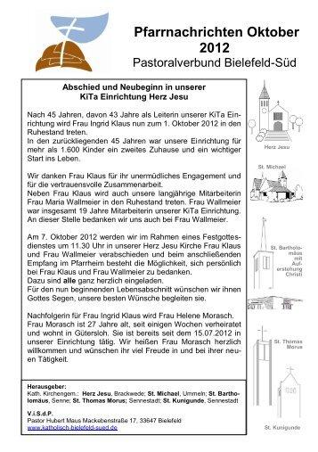 Pfarrnachrichten Oktober 2012 - Pastoralverbund Bielefeld-Süd