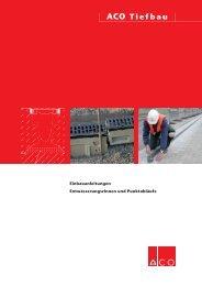Gesamtprospekt Einbau von Entwässerungsrinnen ... - ACO Tiefbau