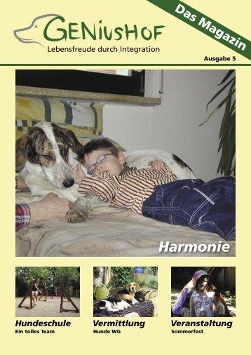 Hundeschule Vermittlung Veranstaltung - Geniushof eV ...