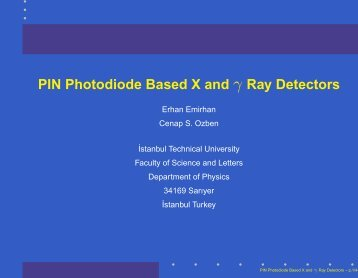 PIN Photodiode Based X and γ Ray Detectors