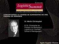 Agile Supply Chains Dr. Martin Christopher El Dr. Christopher es ...